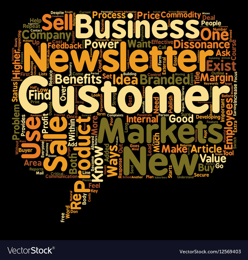 Ways To Use Customer Sales Newsletters text vector image