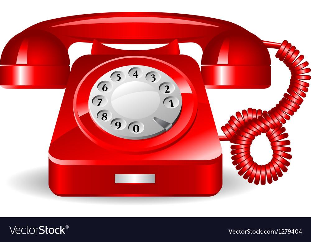 Retro rad telephone vector image