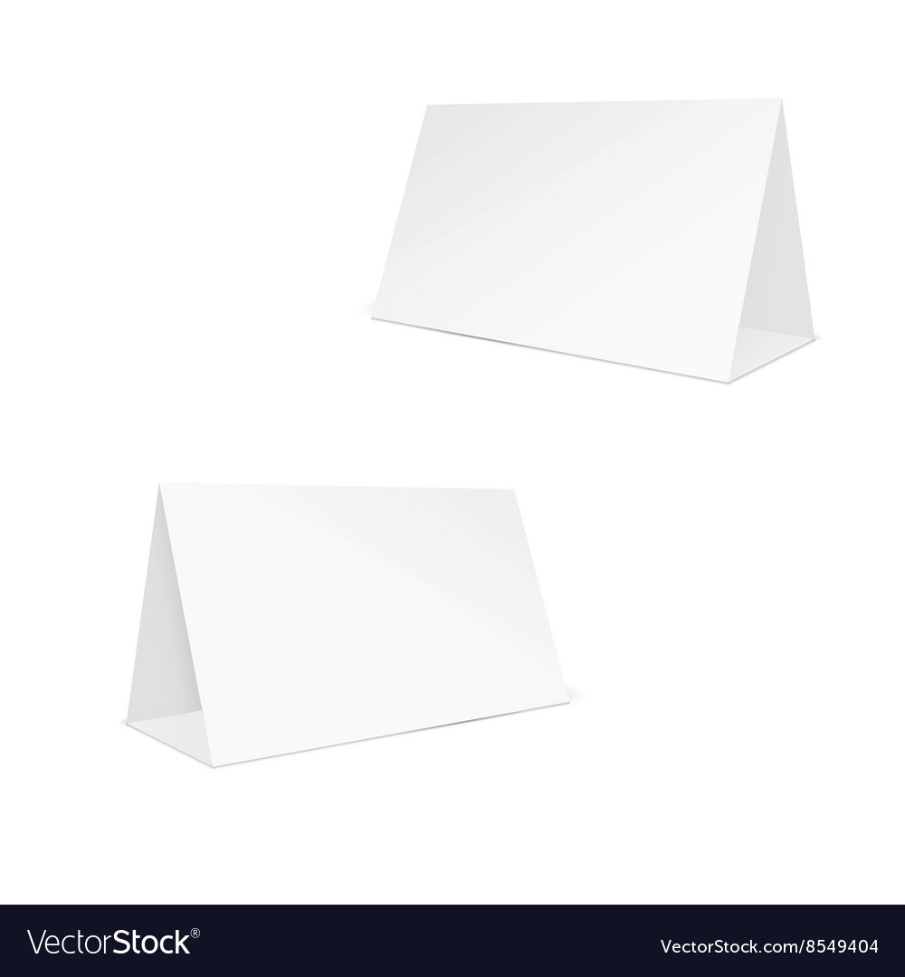 Blank white stand table holder vector image