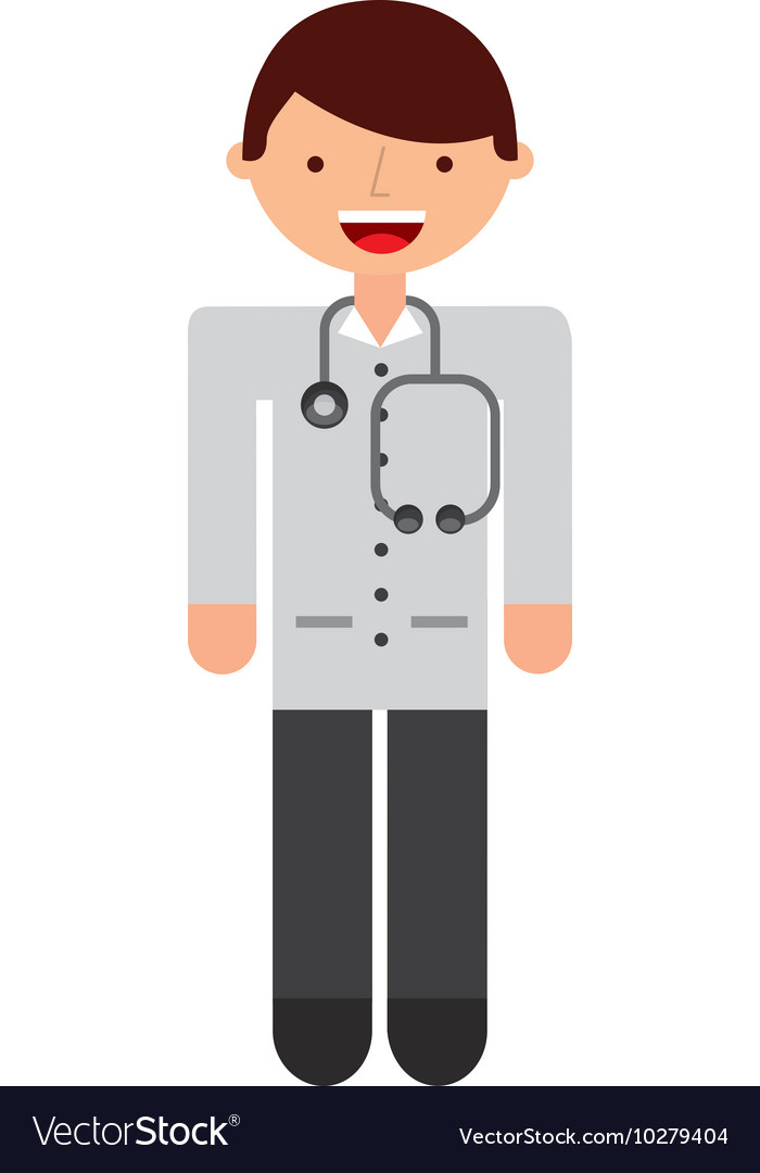 Doctor character isolated icon vector image