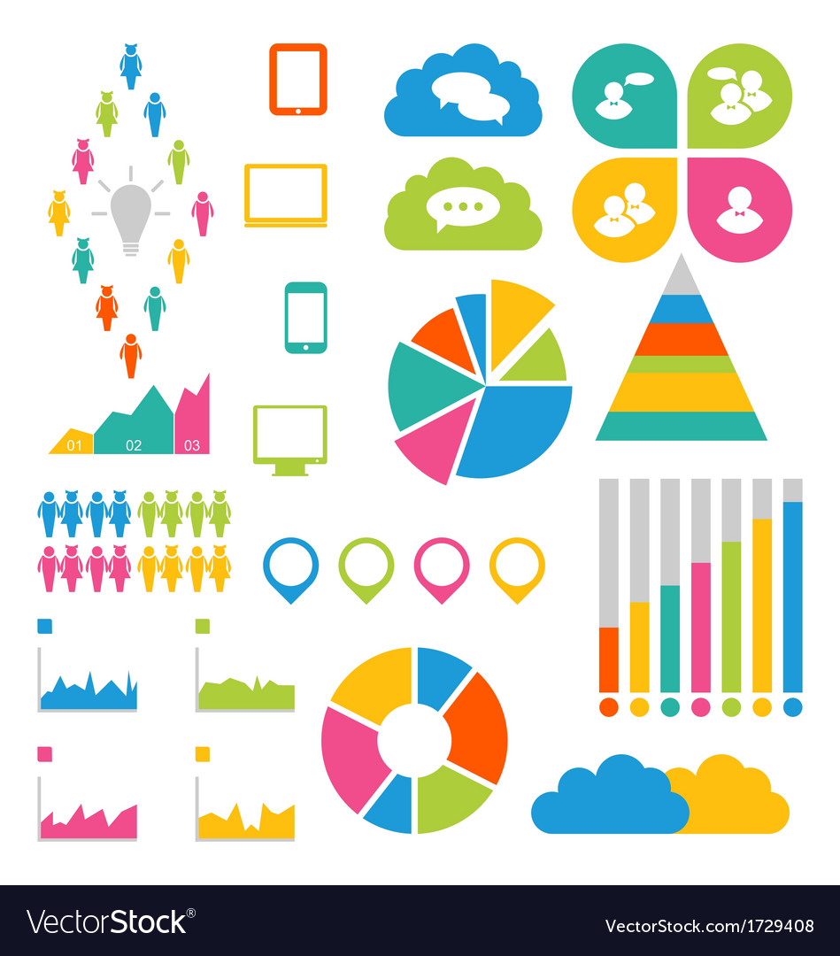 Infographic social group design elements vector image