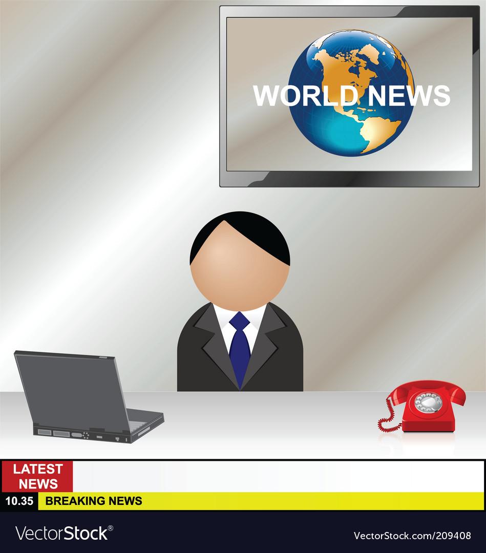 News desk vector image
