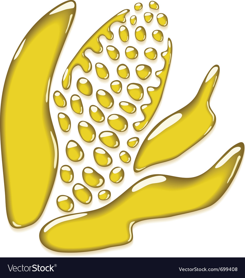 Corn oil stylized vector image