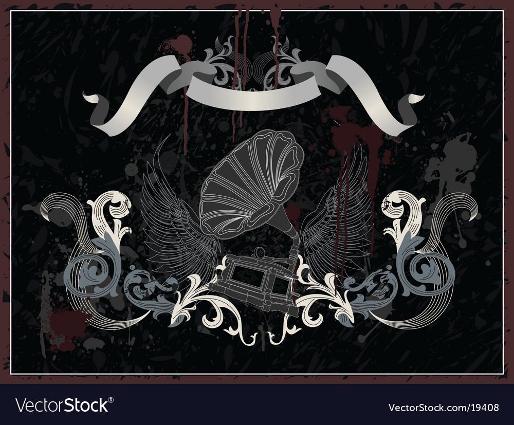 Gramophone symbol vector image