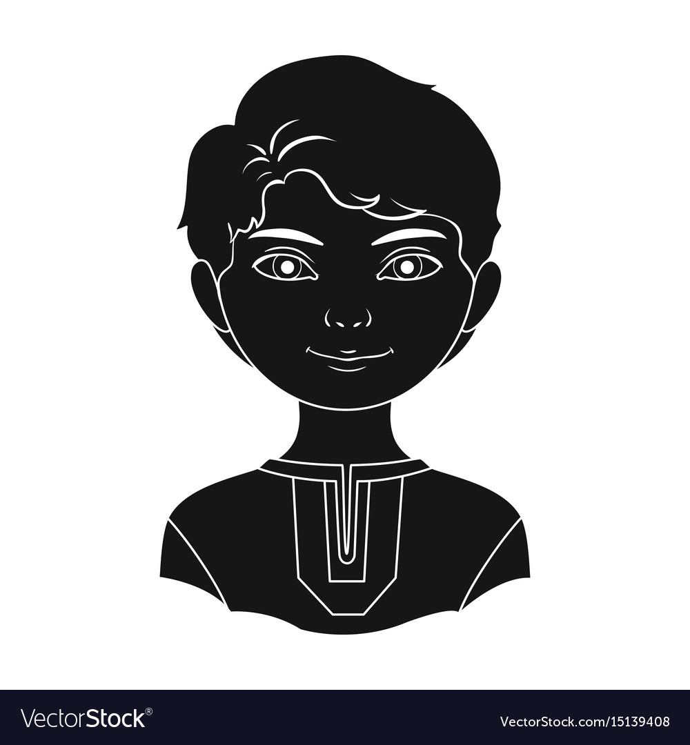 Russianhuman race single icon in black style vector image