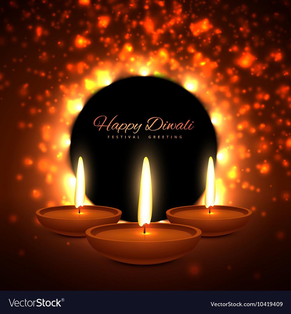 Colroful diwali season greeting card design vector image m4hsunfo