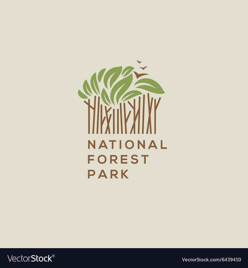 Forest national park logo vector image