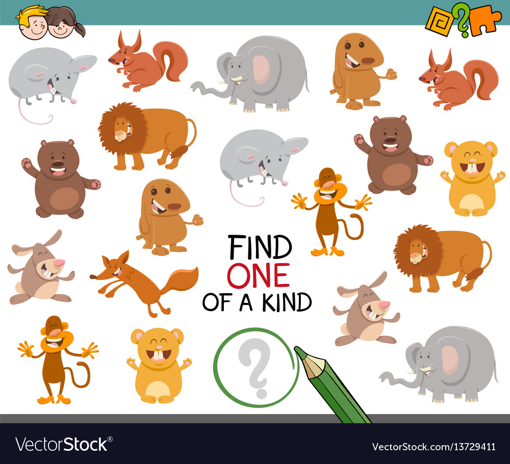 One of a kind activity for kids vector image