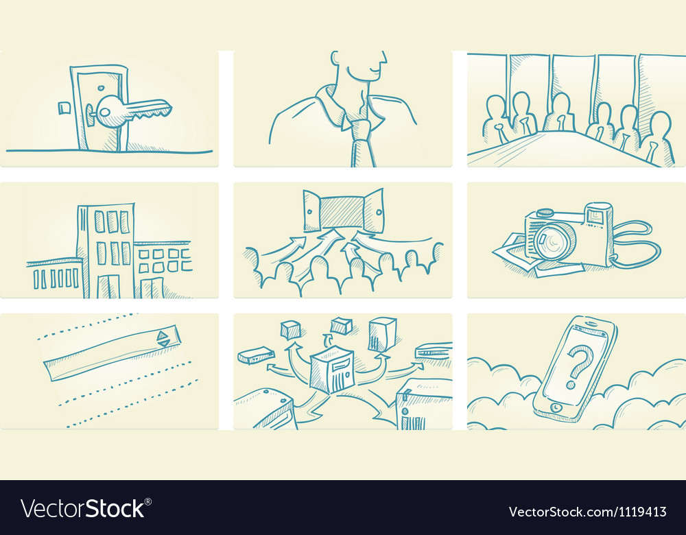 Business Office vector image