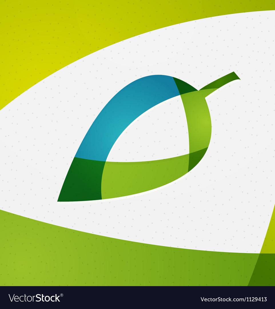 Green leaf concept vector image