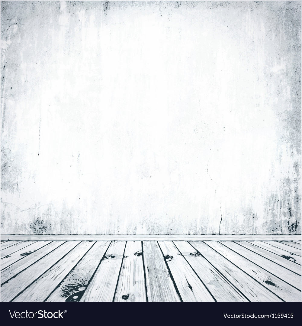 Grunge Empty Interior vector image