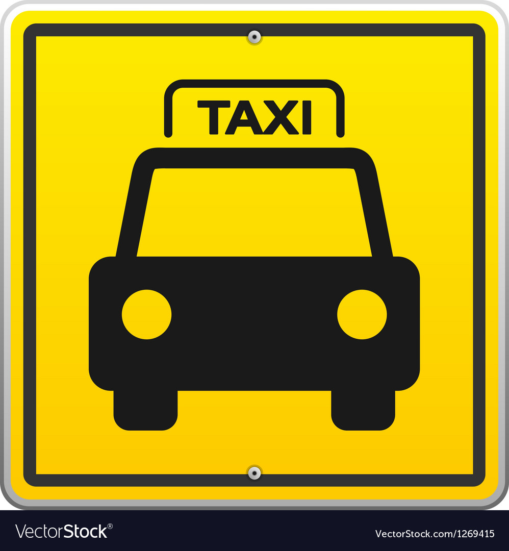 Taxi Sign in New York vector image