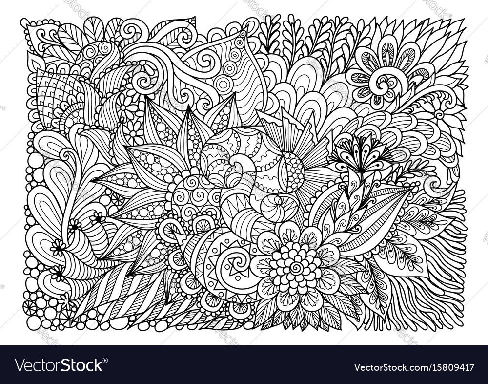 Floral background july 2017 vector image