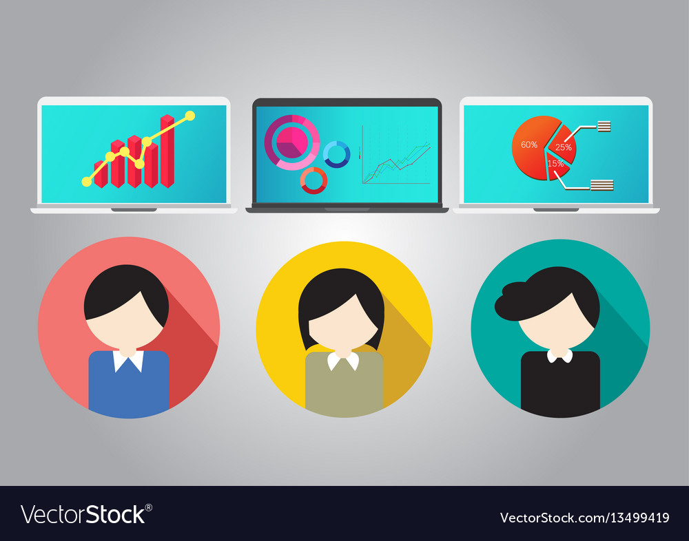 Business concept teamwork meeting and brainstorm vector image