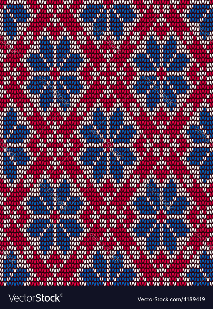 Embroidery seamless pattern in scandinavian style vector image