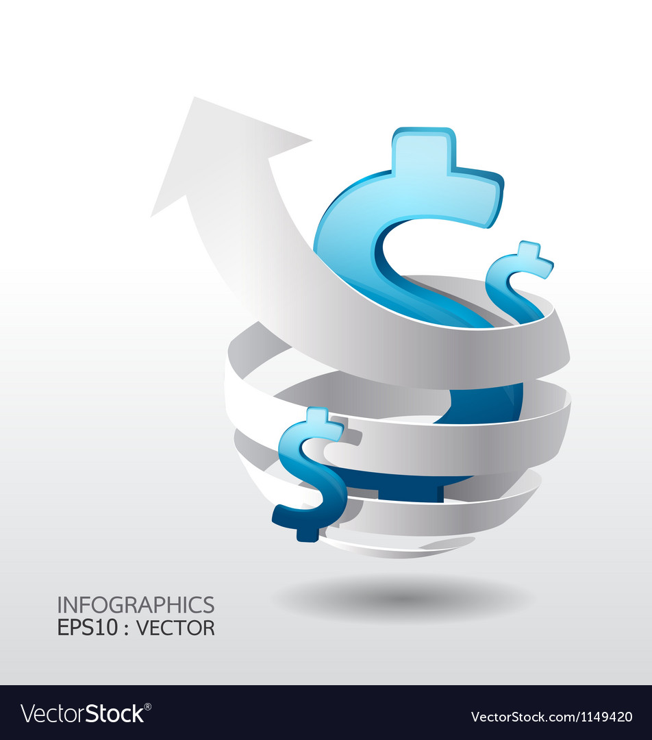 Modern Design business graph concept vector image