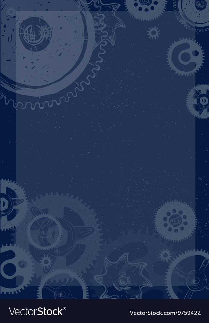 Gear blueprint abstract design vector image