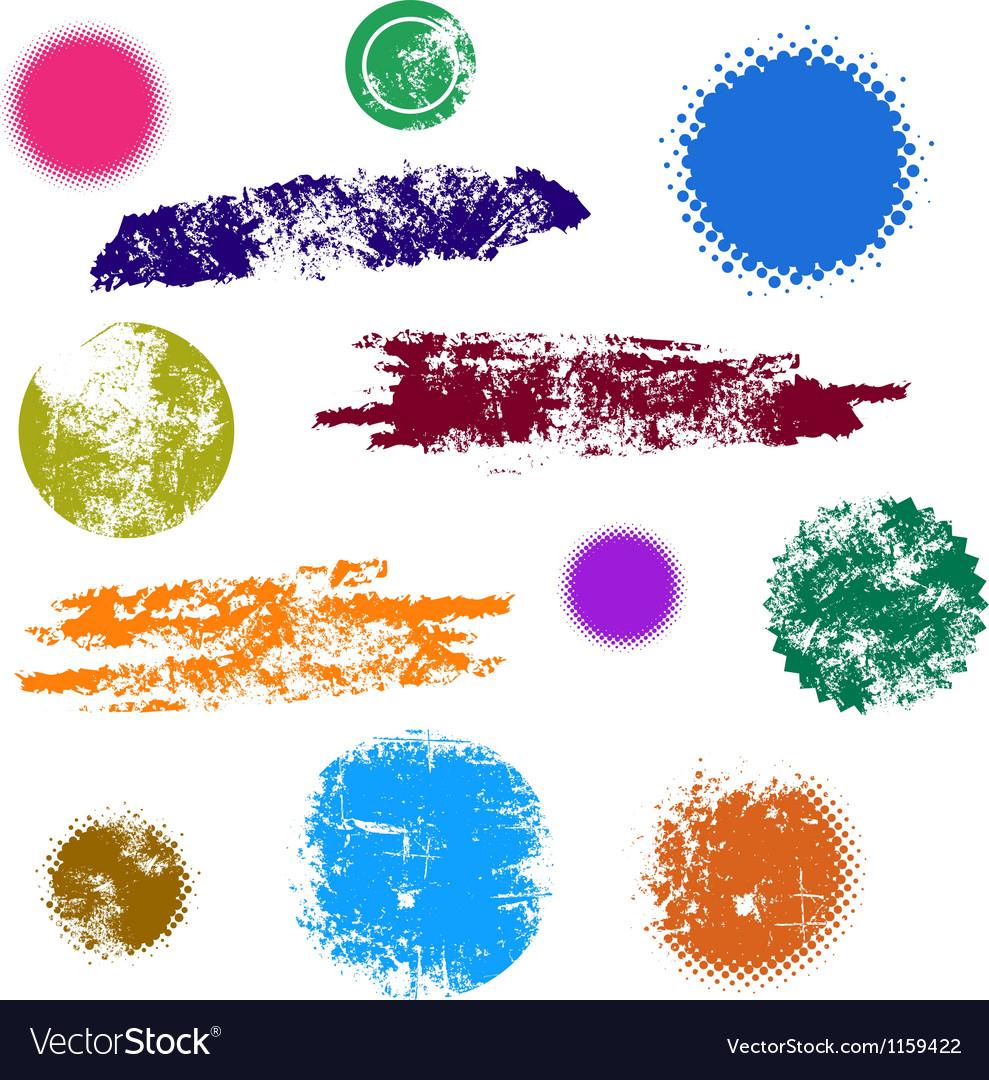 Grunge Design Shape Set vector image