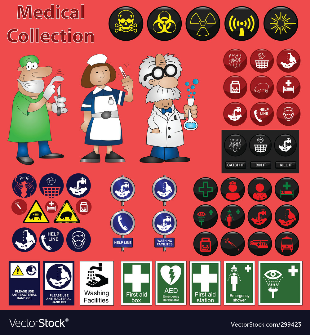 Medical collection vector image