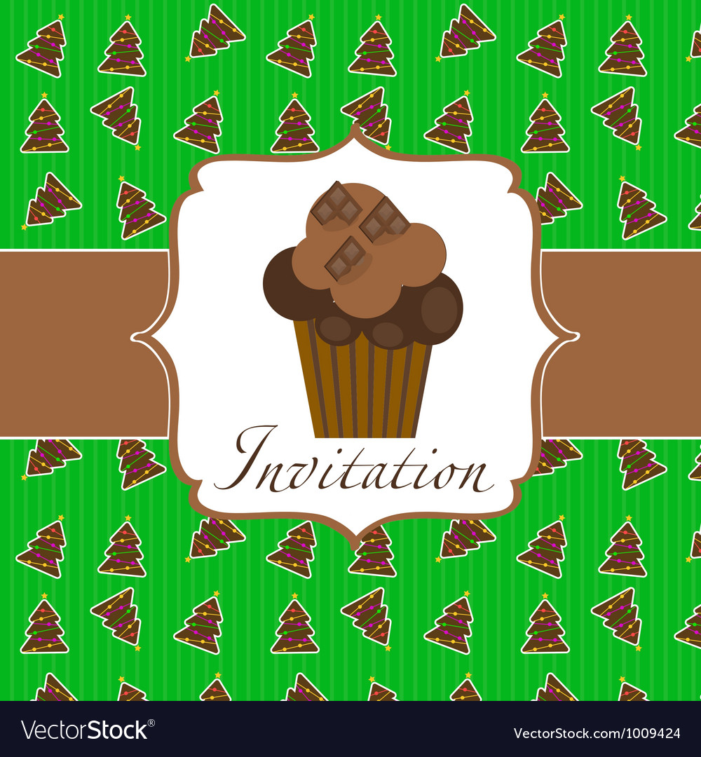 Cupcake invitation background royalty free vector image cupcake invitation background vector image stopboris Image collections