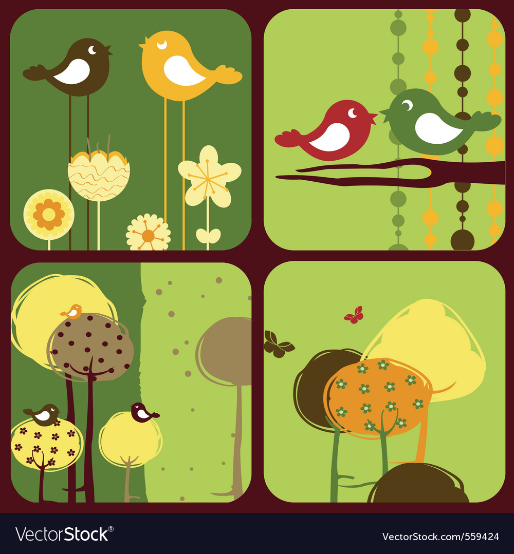 Greeting cards wi vector image