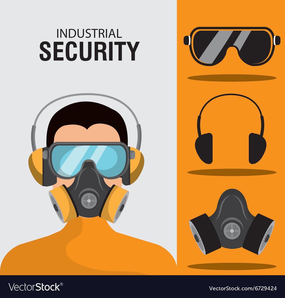 Industrial security equipment vector image