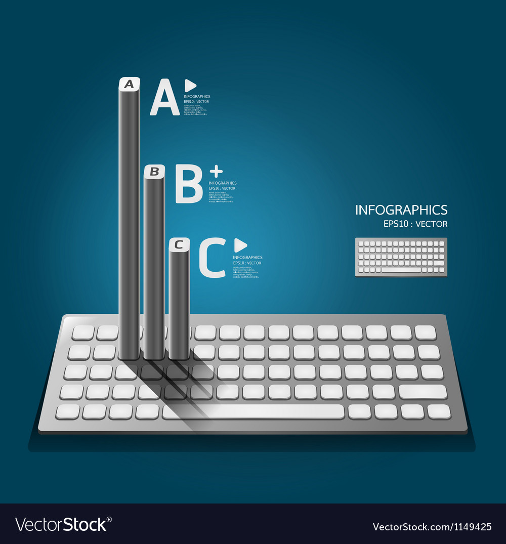 Modern keyboard infographics education vector image
