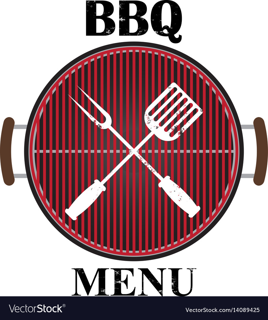 Grill menu isolated vector image