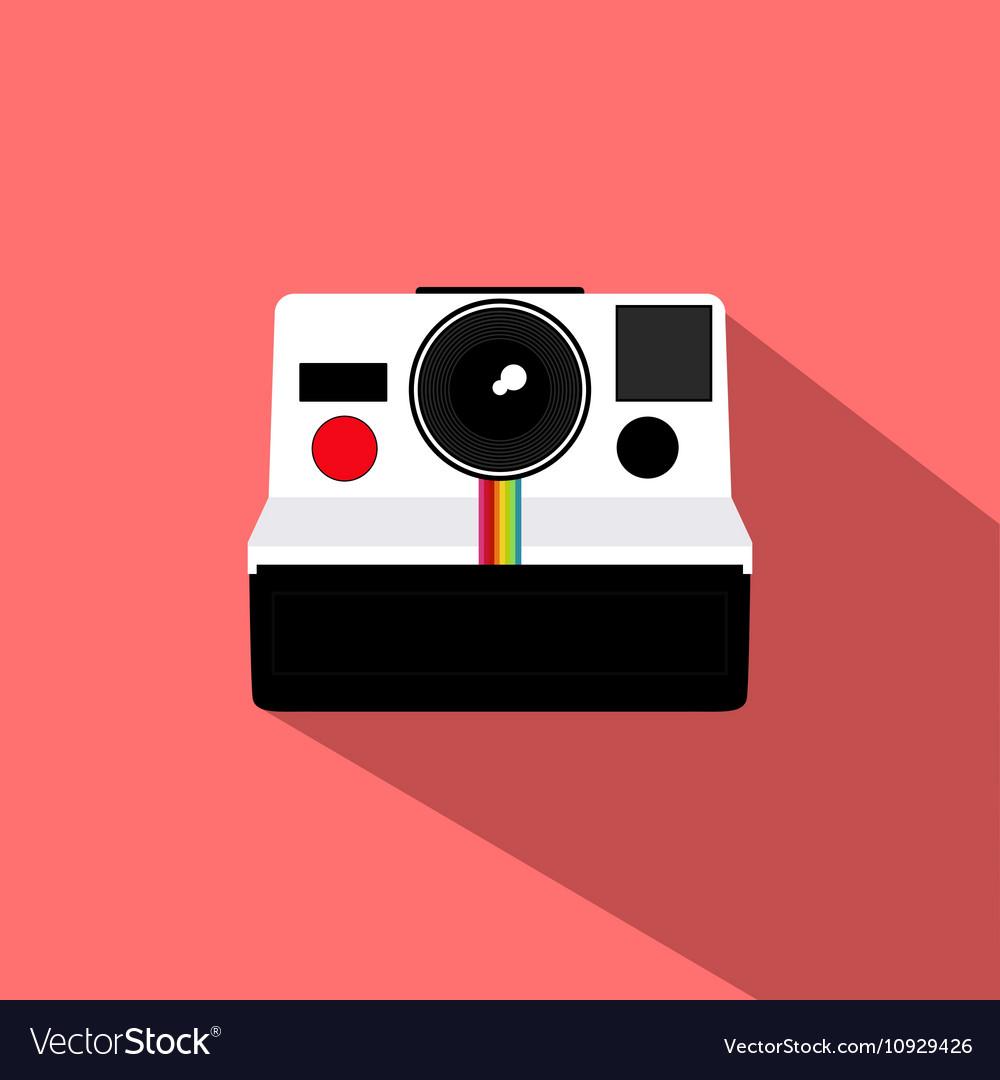 Polaroid Vintage Camera Flat Design vector image