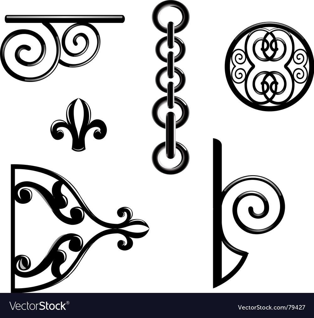 Metallic decorations vector image