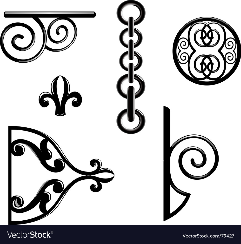 Metallic decorations vector image