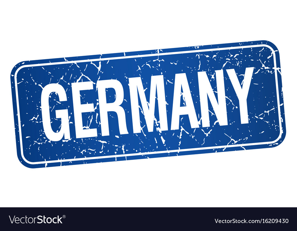 Germany blue stamp isolated on white background vector image