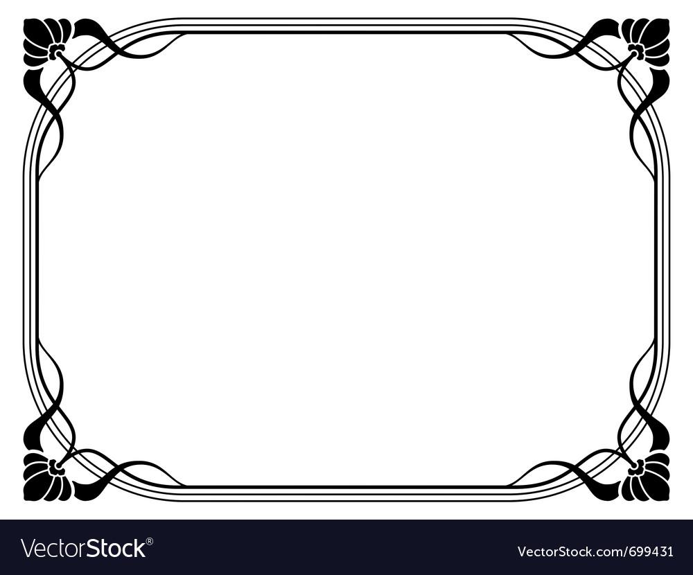 Art nouveau decorative frame Royalty Free Vector Image