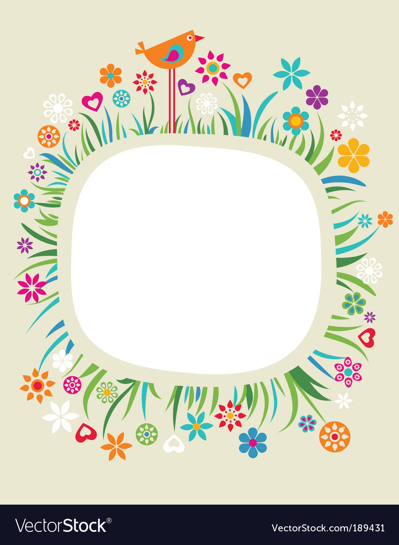 Floral boarder vector image