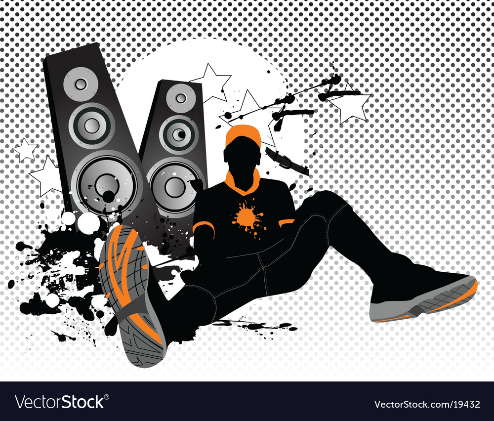 Listening music vector image