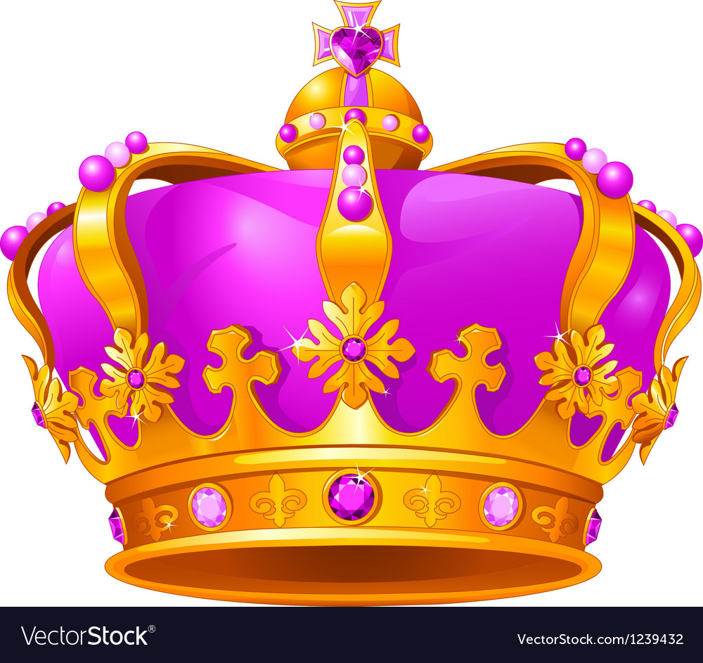 Magic crown vector image
