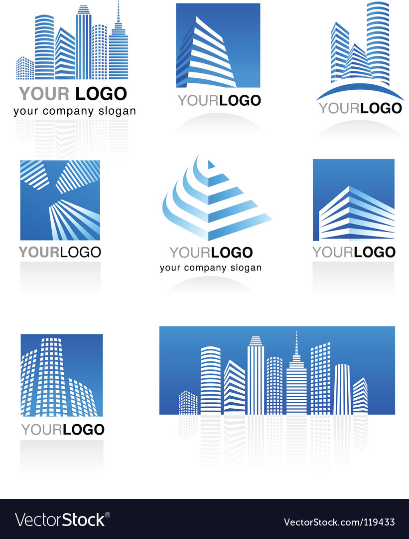 City real estate logo  vector image