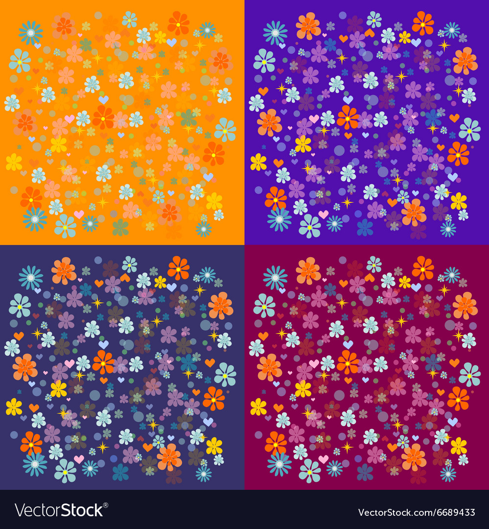 Colorful abstract floral pattern vector image