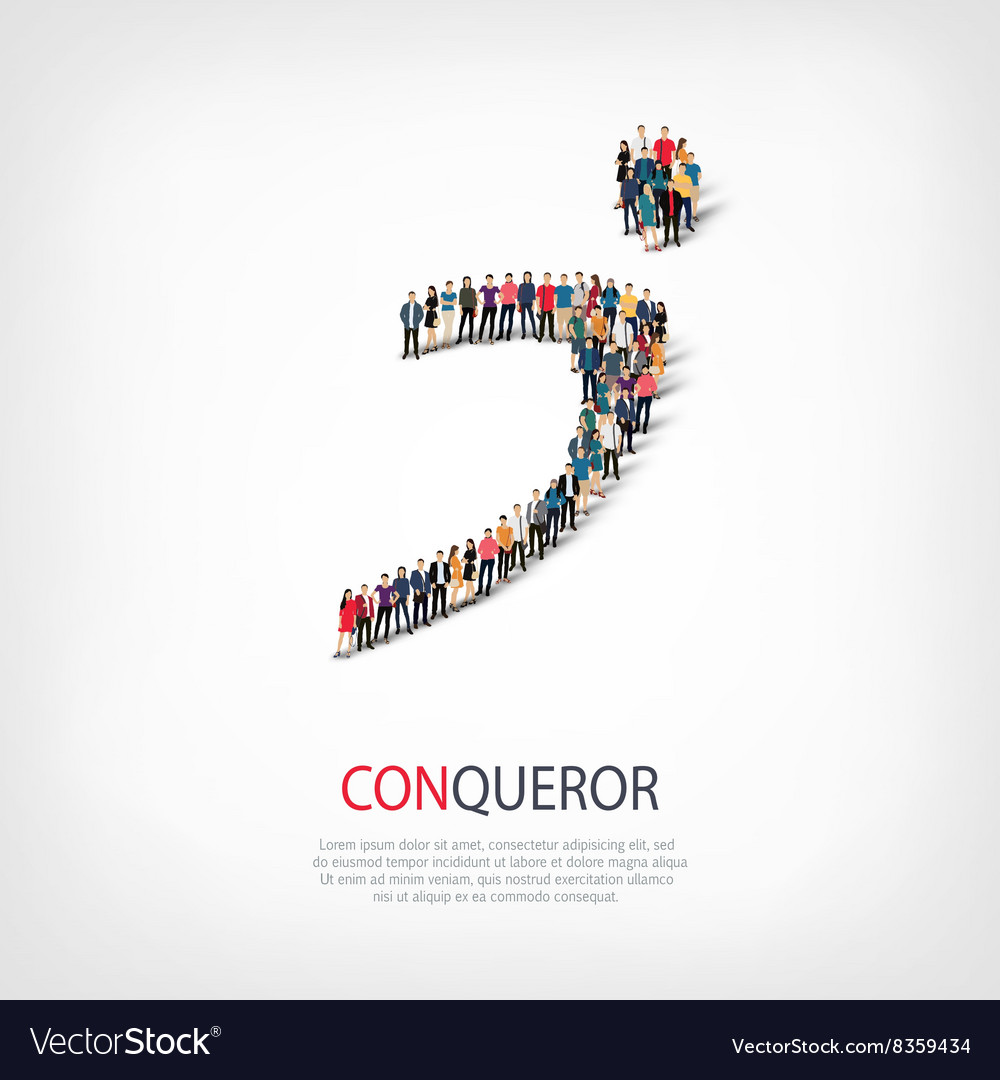Conqueror people symbol vector image