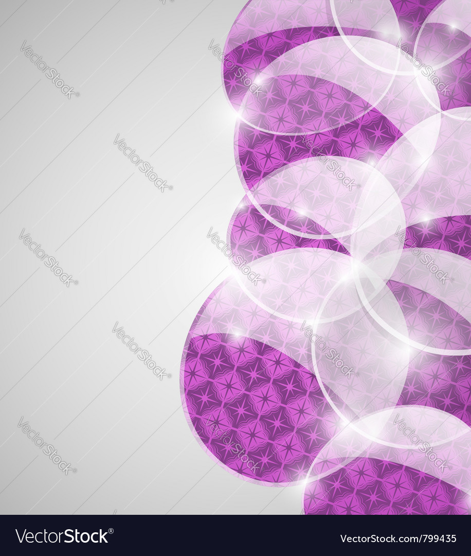 Abstract violet bubbles background vector image