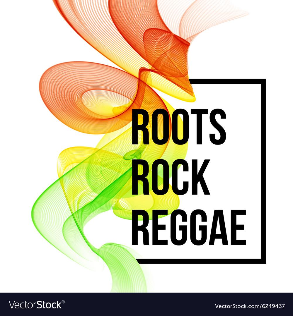 Poster design vector - Reggae Color Wave Poster Design Vector Image