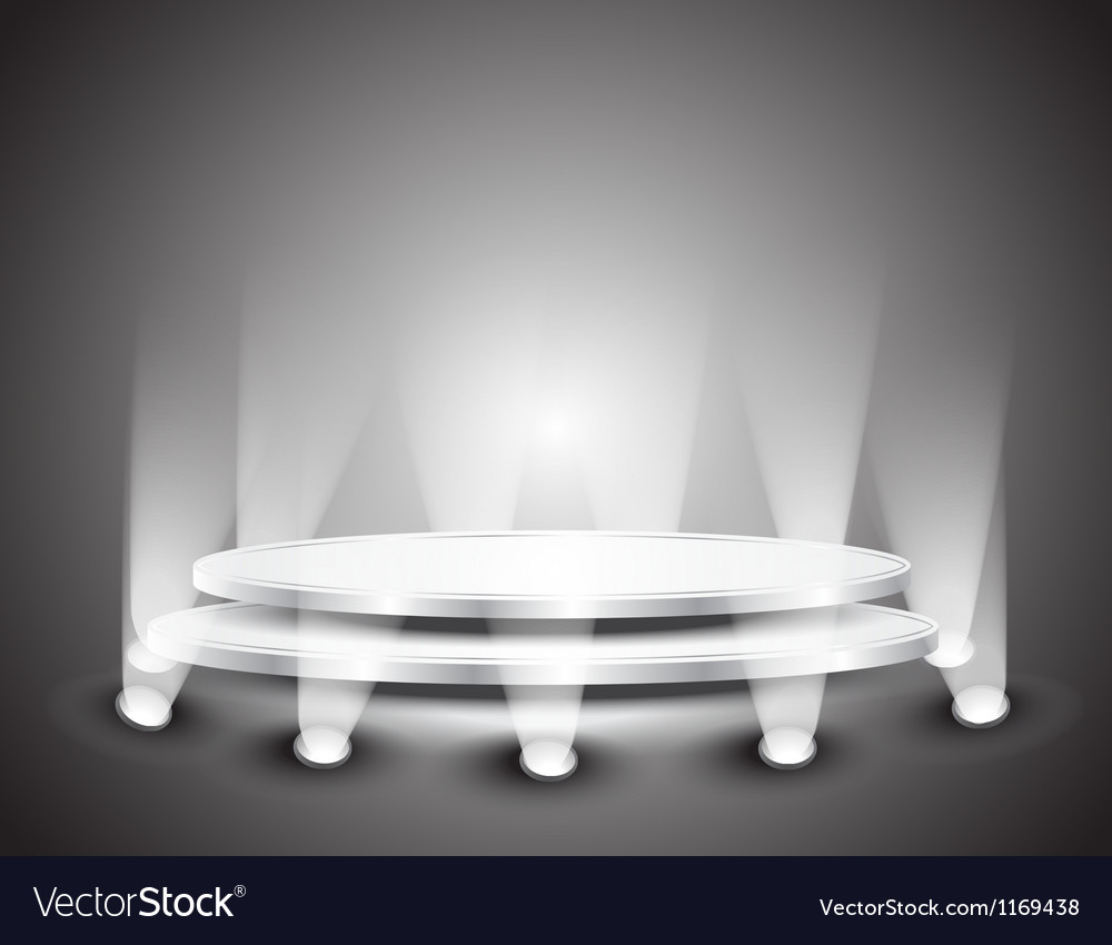 Podium with light vector image