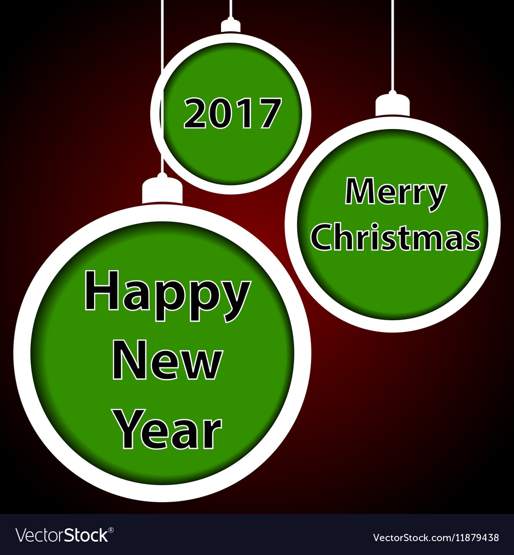 Abstract green Christmas balls vector image