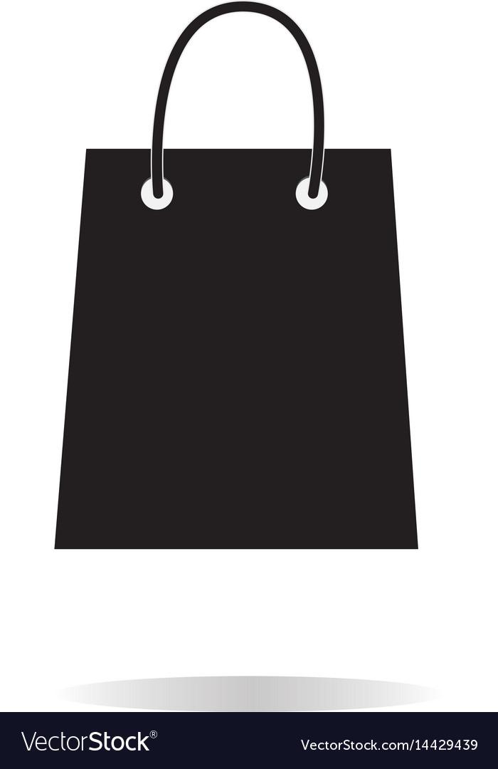 Bag shopping icon on white background bag vector image