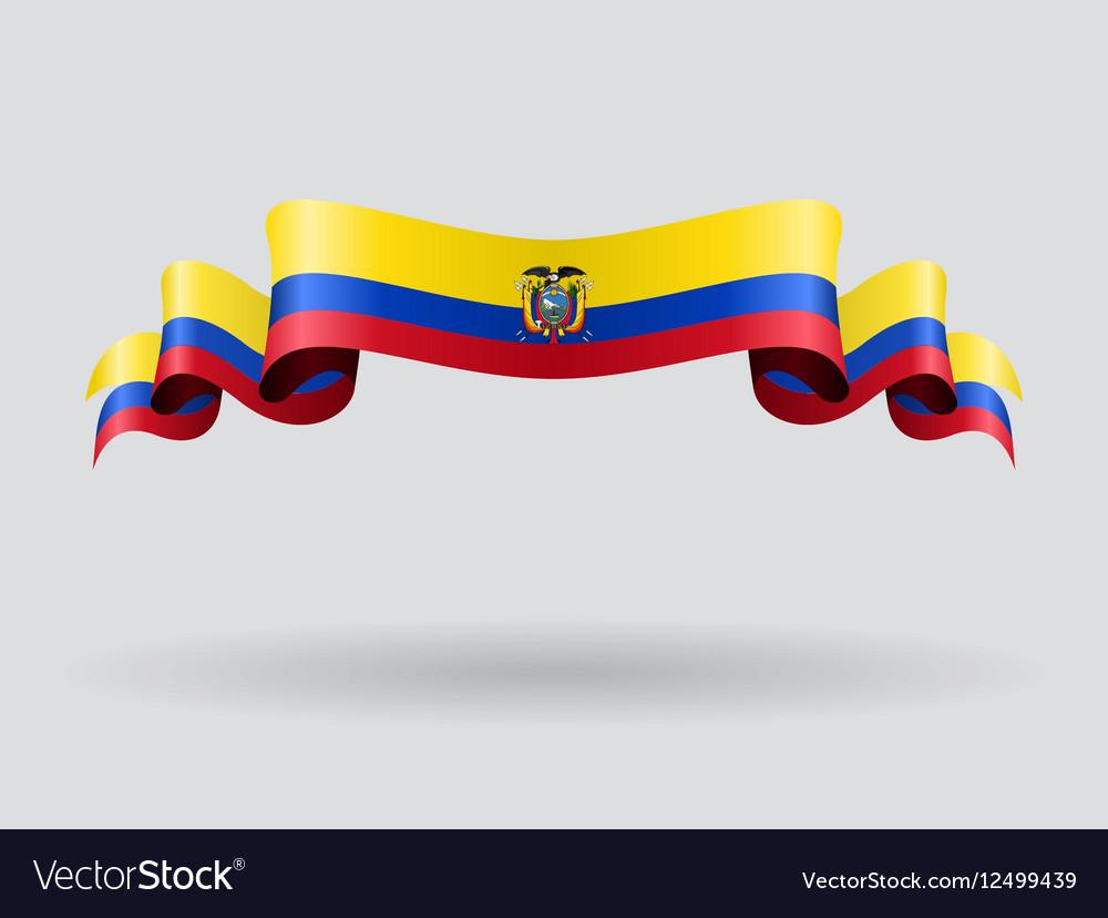 Ecuadorian wavy flag vector image