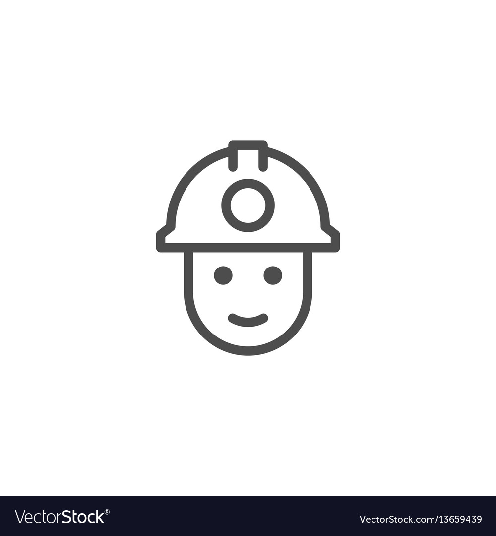 Miner line icon vector image