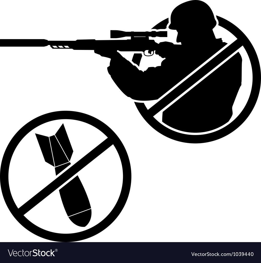No war stencil vector image