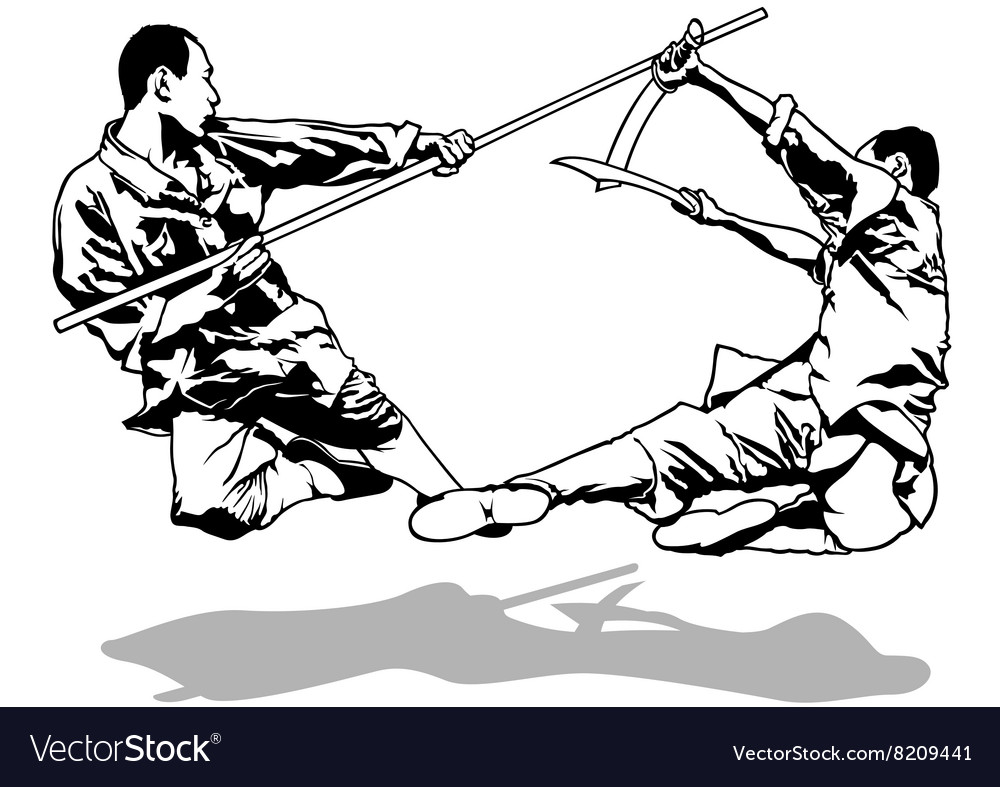 Kung-Fu Fighters vector image