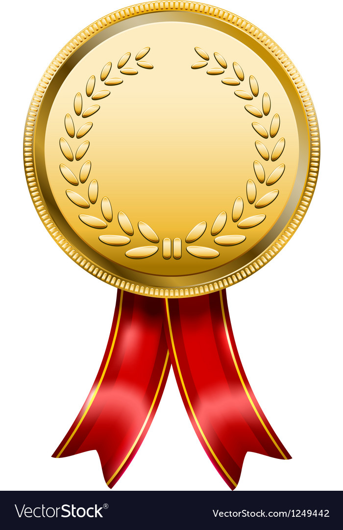 Award Medal Rosette Label vector image