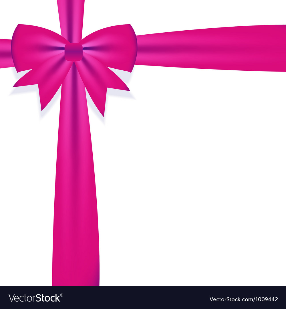 Gift bow with ribbon royalty free vector image gift bow with ribbon vector image negle Image collections